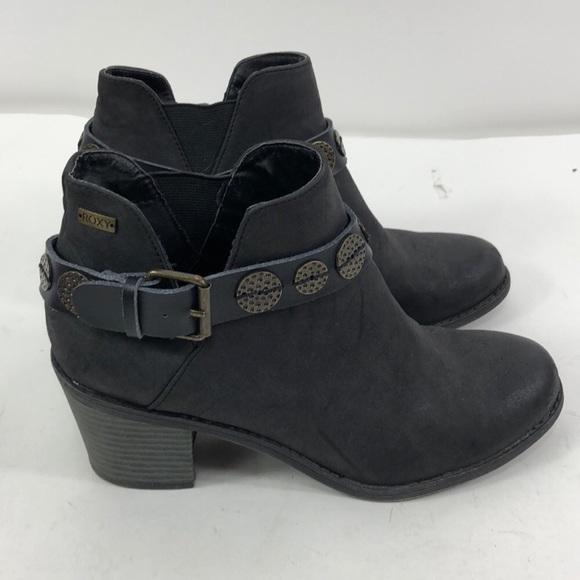 7bdf8bb3e16 ROXY Black Buckle Ankle Boots